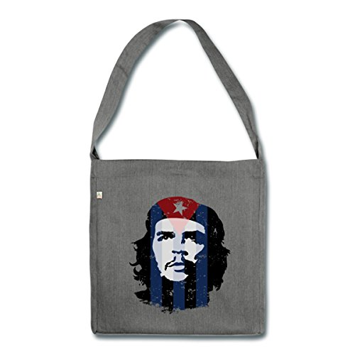 made Bag material Cuba recycled Flag Dark Shoulder Heather Grey Che Guevara Spreadshirt from 6qYfwpXnW