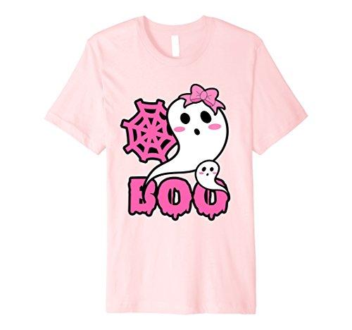 Mens Cute Halloween Boo Costume T Shirt for Toddler Girls Tween 3XL Pink
