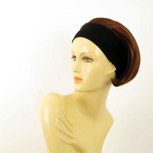 univers perruque Woman Short Headband Wig Smooth Dark Brown Copper Intense Ref: Amanda 322 -