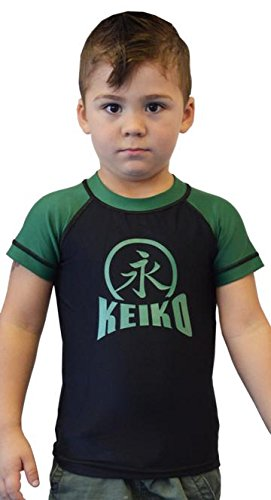 KEIKO SPORTS NEW Kids Comp Team Rashguard - Green - 10