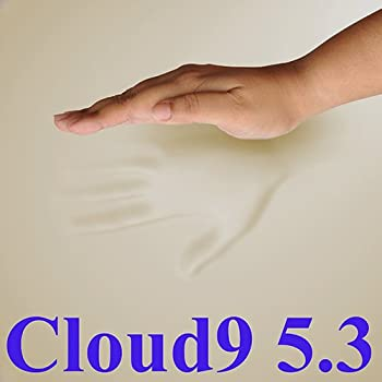 5.3 Cloud9 Cal-King 4 Inch 100% Visco Elastic Memory Foam Mattress Topper