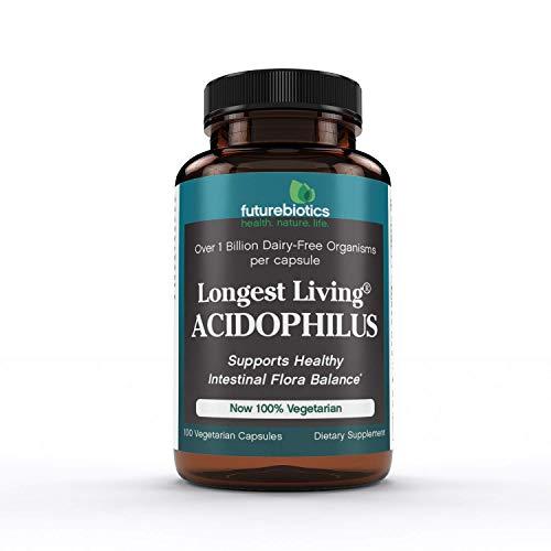 Futurebiotics Longest Living Acidophilus , 100 Vegetarian Capsules