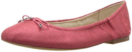 Hot Coral Apparel - Sam Edelman Women's Felicia, Hot Coral Silk Dupioni, 7 M US