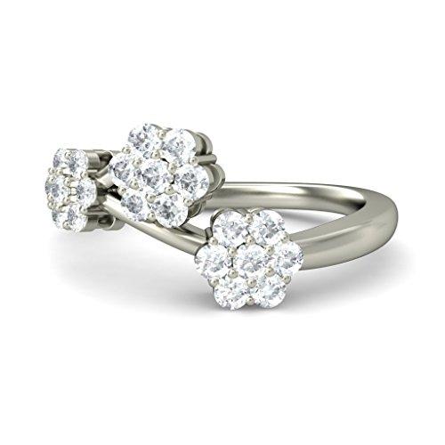 18K Or Blanc, 0,33carat Diamant Taille ronde (IJ | SI) en diamant