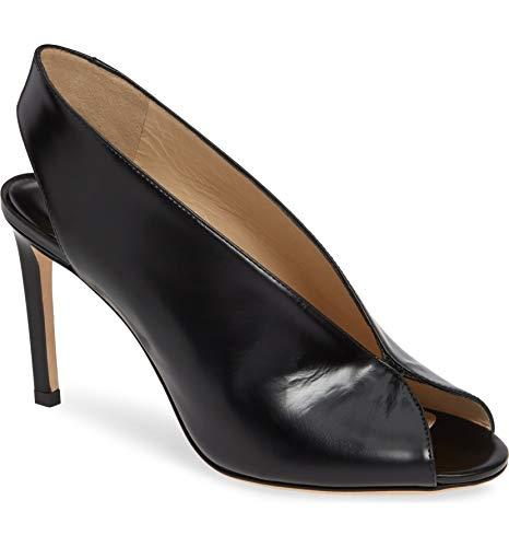 JIMMY CHOO Open Toe Shar Slingback Sandals Pumps Black 38/US ()