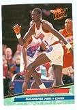 Manute Bol basketball card (Philadelphia 76ers Sudan) 1992 Fleer Ultra #136