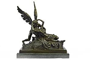 Hecho a mano Escultura de bronce europea mármol firmado