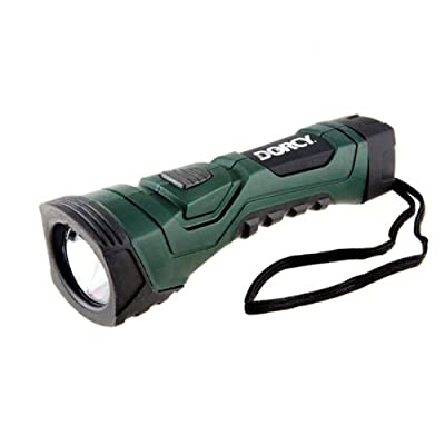 Dorcy 190-Lumen CyberLight Weather Resistant LED Flashlight with Nylon Lanyard, Dark Green (41-4751)