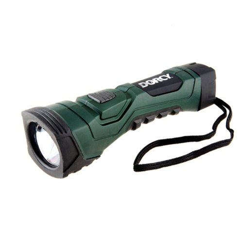 Dorcy 190-Lumen CyberLight Durable LED Flashlight with True Spot Reflector, Dark Green (41-4751)