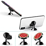 Magnetic Phone Holder Red and White Polka Dots