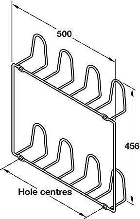 Schuhhalter Schuhablage zum Schrauben an die Wand für 2 Paar Schuhe
