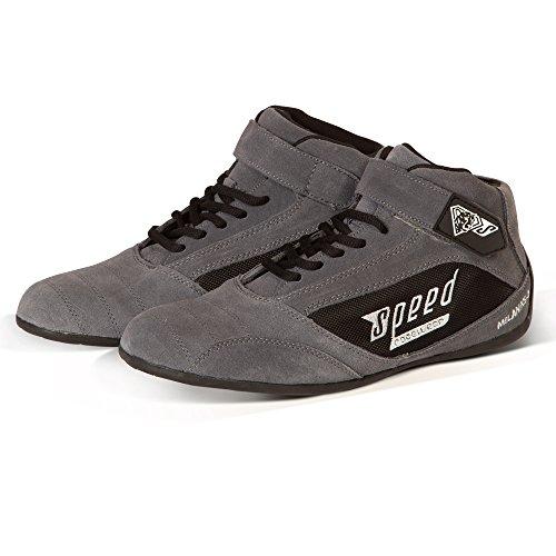 de nbsp;– Couleurs Chaussures nbsp;Premium nbsp;Plusieurs SPEED Kart de Milan Chaussures nbsp;– 2 gris KS Kart Y5cqf