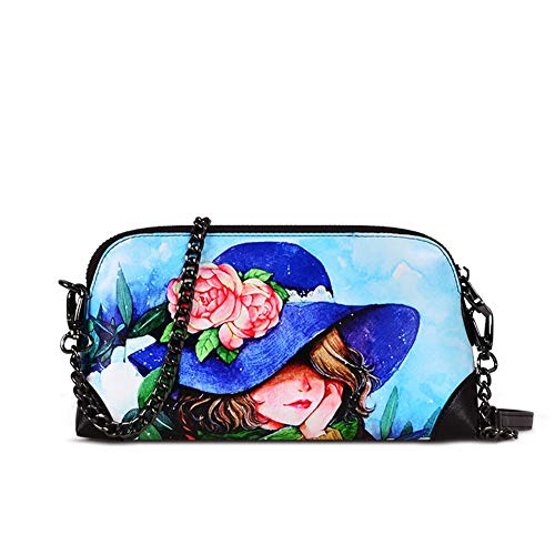 Mujeres J Tamaño Impresión 5cm Del 22cm Moda Corea Hwx Bolso Las Do De Bandolera 13cm Embrague Bag Messenger color AIxqBg6U