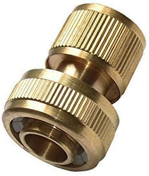 Brass Hose Connector,6PCS Hose End Quick Connect Brass Hose Pipe Fitting 3/4