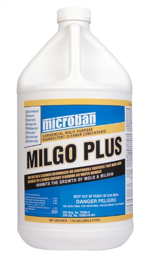 Dri-Eaz F447 Microban Milgo Plus Disinfectant Cleaner/Sanitizer Concentrate, 1 Gallon Bottle (Case of 4) (1 Gallon Concentrate Bottle)