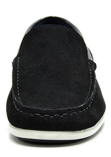 Bruno Marc Men's Kilin-01 Black Driving Loafers Moccasins Shoes – 12 M US