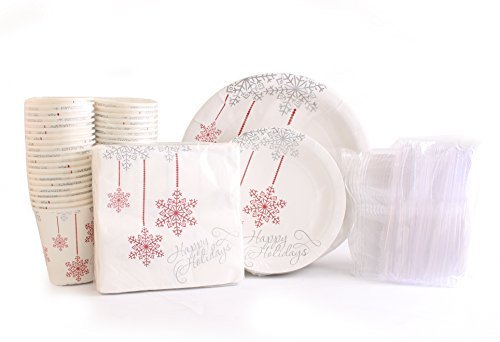 Christmas 80 Disposable Paper Plates, 40 Paper Cups,
