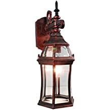eTopLighting LA Maison Collection Outdoor Rustic Copper Wall Light Lantern with Beveled Glass Lighting Fixture Sconce, Luxurious Outdoor Decoration Light, APL1859