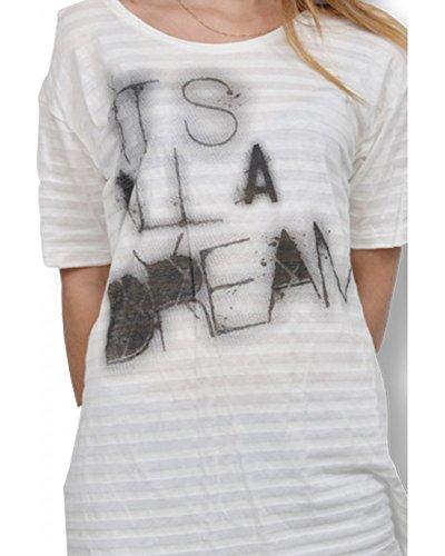 Tee Shirt de Manga Corta Para Mujer Crema Collection B. Young blanco