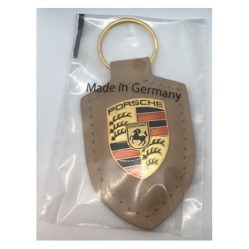 Volkswagen WAP0500980H Porte-clés avec écusson Porsche Cuir Beige