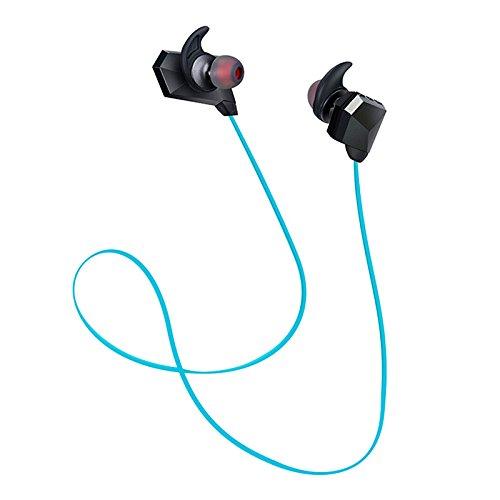 Vuage(TM) マイク耳介Fone社デOuvidoとCSR耳カップEcouteurワイヤレスBluetoothイヤホンインナーイヤー型ステレオヘッドセット低音ヘッドフォン B07BS6SB3N青