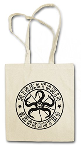 MISKATONIC SHOGGOTS VINTAGE Hipster Shopping Cotton Bag Cestas Bolsos Bolsas de la compra reutilizables - Arkham Lovecraft HP University Universidad Cthulhu