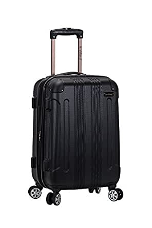 """Rockland 20"""" Expandable Carry On, Spinner Luggage, Black"""