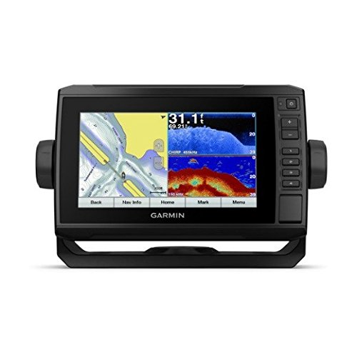 "Garmin ECHOMAP Plus 73cv with Transducer, 7"" Keyed Assist Touchscreen Chartplotter/Sonar Combo with CHIRP Traditional and ClearVu Scanning Sonar Transducer and Built In LakeVu HD inland maps"