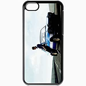 Personalized iPhone 5C Cell phone Case/Cover Skin Fast and furious 6 fast six paul walker brian oconner car road Movies Black
