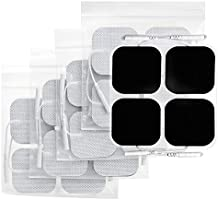 AUVON TENS Unit Pads 2X2 20 Pcs, 3rd Gen Latex-Free Replacement Pads Electrode Patches with Upgraded Self-Stick...
