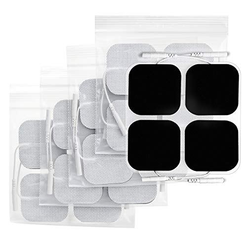 (AUVON TENS Unit Pads 2X2 20 Pcs, 3rd Gen Latex-Free Replacement Pads Electrode Patches with Upgraded Self-Stick Performance and Non-Irritating Design for)