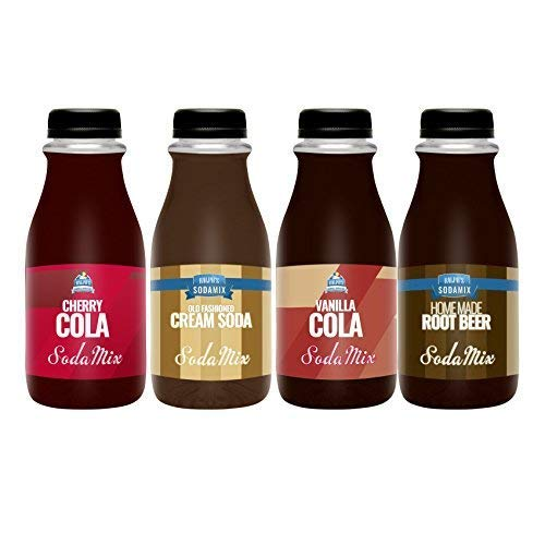 Ralph's 4 Sparkling Water Sodamix Flavor Pack | Cherry Cola | Root Beer | Vanilla Cola | Cream Soda | Four 12oz Bottles