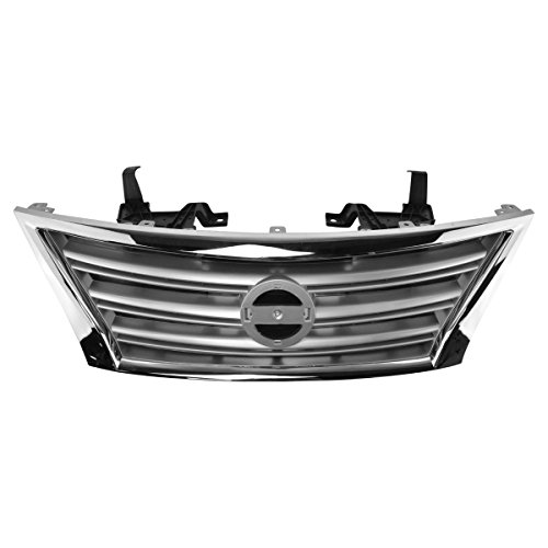 ilver Grill Grille Assembly for Nissan Sentra S SL SV ()