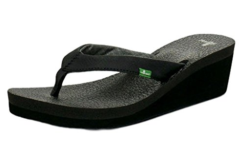"Sanuk Casual Shoes Womens Yoga Mat Wedge 2"" Wedge 6 Black SWS3053 from Sanuk"