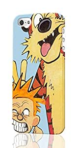 SUUER Calvin And Hobbes iPhone 5 5S Case , Designer Personalized Custom Plastic Hard CASE for iPhone 5 5S Durable New Style Rough Skin 3D Case Cover