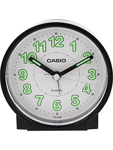 (Casio #TQ228-1DF Round Travel Table Top Alarm Clock)