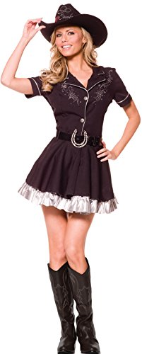 Underwraps Costumes Women's Sexy Cowgirl Costume - Rhinestone, Black, X-Large