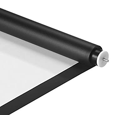 "VonHaus DIY Projector Screen (66"" x 110"") - White Projection Screen Material/Fabric with Black Border"