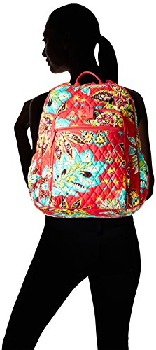Women's Campus Tech Backpack, Signature Cotton, Rumba by Vera Bradley (Image #4)