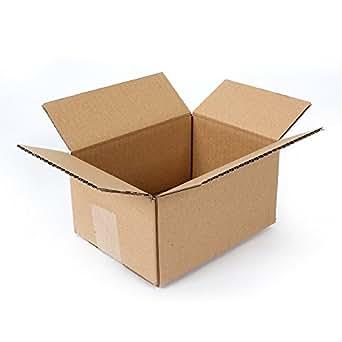 "Pratt PRA0016 100PK 100% Recycled Corrugated Cardboard Box, 8"" Length x 6"" Width x 4"" Height (Pack of 100)"
