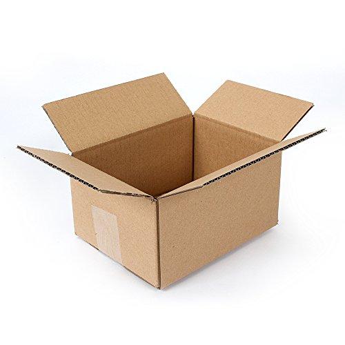 Pratt PRA0016 100PK 100% Recycled Corrugated Cardboard Box, 8 Length x 6 Width x 4 Height (Pack of 100)