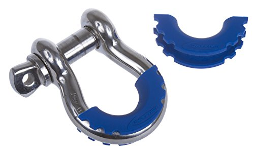 Daystar, Blue D-Ring Shackle Isolator, protect your bumper and reduce rattling, KU70056RB, Made in America