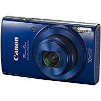 Canon PowerShot ELPH 190 IS with 10x Optical Zoom (24-240mm) and Built-In Wi-Fi with NFC - Blue (CERTIF1ED REFURBISHED)