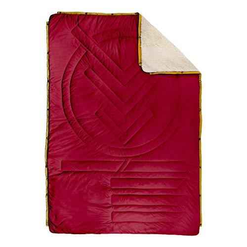 VOITED CloudTouch Outdoor Pillow Blanket - Versatile Insulated & Water-Resistant Indoor/Outdoor Blanket for Travel, Van & Home (Oxblood)