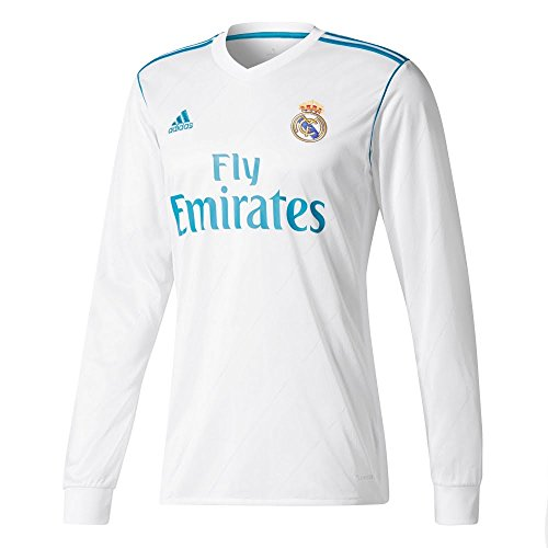 adidas Real Madrid CF Home Long Sleeve Jersey [WHITE] (L) (Sleeve Madrid Jersey Real Long)