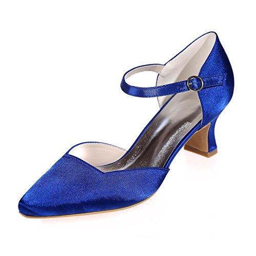 L@YC Seda De Boda Para Mujer 0723-07 Noche Puntiaguda / De Fiesta Y MáS PersonalizacióN De Color Disponible Blue