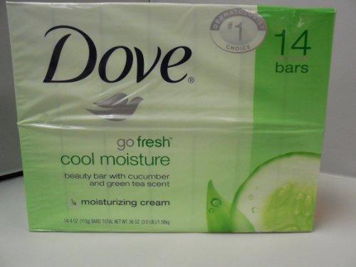 Dove Beauty Bar, Go Fresh Cool Moisture 4 oz., 14 bars