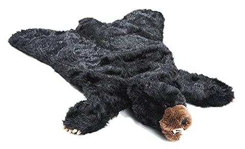 Carstens Plush Black Bear Animal Rug, Large (Rugged Bear Plush)