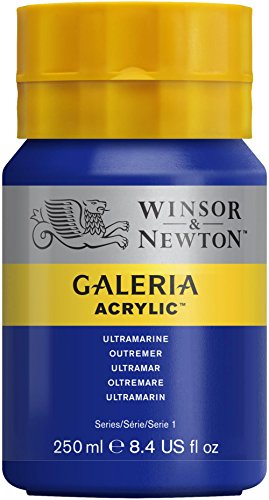 (Winsor & Newton Galeria Acrylic Paint, 250ml Bottle, Ultramarine)