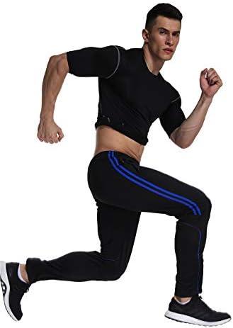 FITTOO Pantalones Deportivos para Hombre Mallas de Fitness Elásticos y Transpirables 6